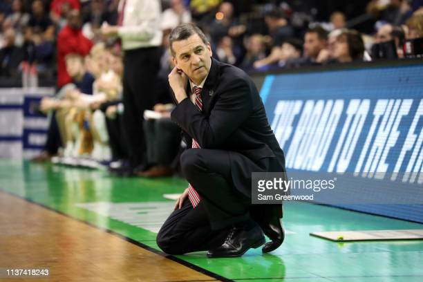 Head coach Mark Turgeon of the Maryland Terrapins during the first round of the 2019 NCAA Men's Basketball Tournament at VyStar Jacksonville Veterans...