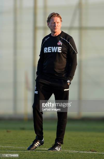 Head coach Markus Gisdol of 1. FC Koeln looks on during the 1. FC Koeln winter training camp on January 9, 2020 in Benidorm, Spain.