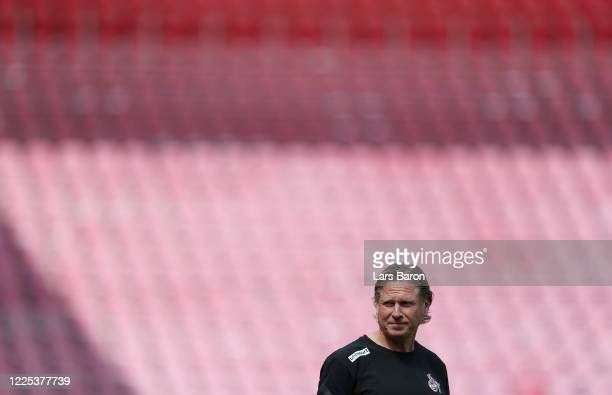 Head coach Markus Gisdol seen prior to the the Bundesliga match between 1 FC Koeln and 1 FSV Mainz 05 at RheinEnergieStadion on May 17 2020 in...