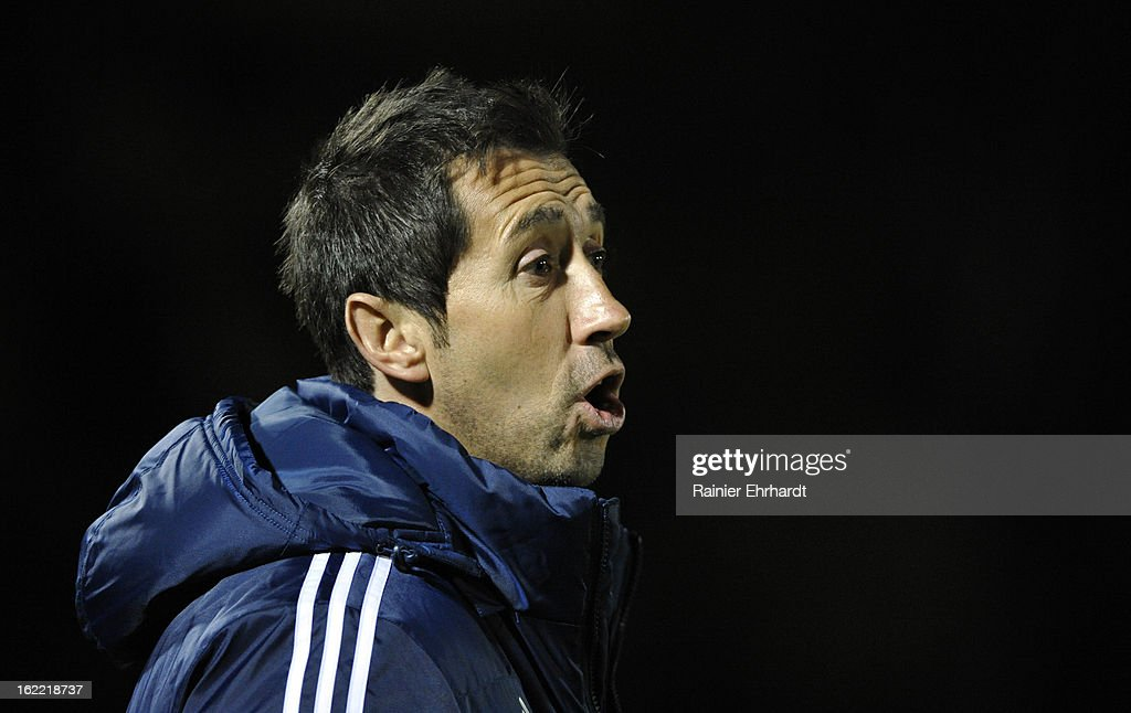 Head coach Martin Rennie of Vancouver Whitecaps FC looks on during the second half of a game against the Houston Dynamo at Blackbaud Stadium on February 20, 2013 in Charleston, North Carolina.
