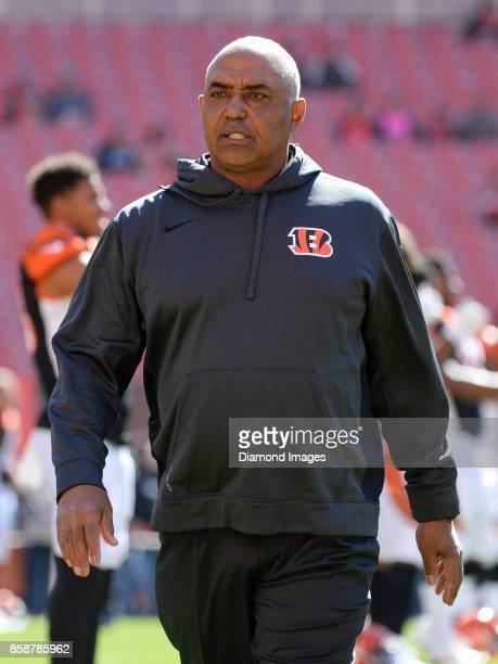 Head coach Marvin Lewis of the Cincinnati Bengals walks onto the field prior to a game on October 1 2017 against the Cleveland Browns at FirstEnergy...