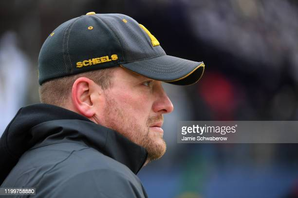 Head Coach Matt Entz of the North Dakota State Bison watches his team play against the James Madison Dukes during the Division I FCS Football...