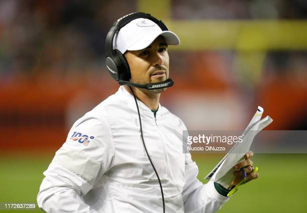 Head coach Matt LaFleur of the Green Bay Packers stands on the field during the second half against the Chicago Bears at Soldier Field on September...