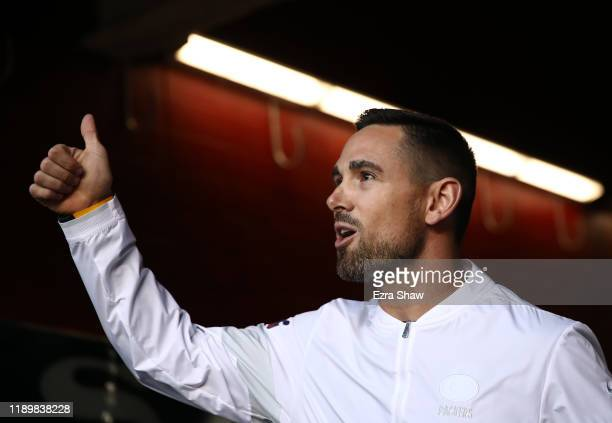 Head coach Matt LaFleur of the Green Bay Packers walks out of the tunnel prior to the game against the San Francisco 49ers at Levi's Stadium on...