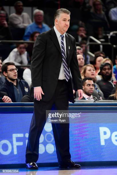 Head coach Matt Painter of the Purdue Boilermakers looks on against the Rutgers Scarlet Knights during the quarterfinals of the Big Ten Basketball...