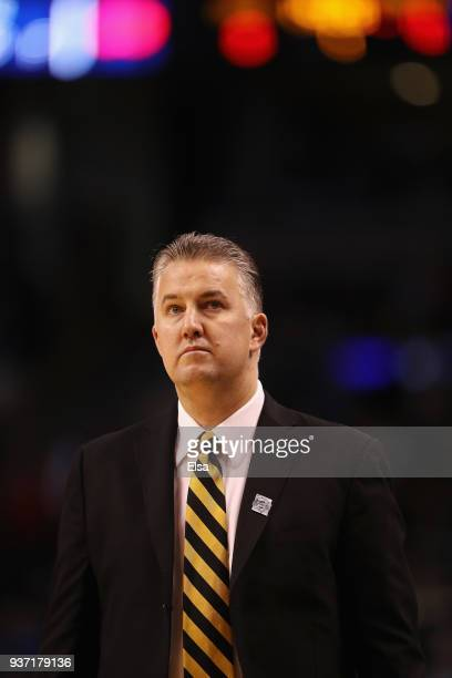 Head coach Matt Painter of the Purdue Boilermakers looks on during the first half against the Texas Tech Red Raiders in the 2018 NCAA Men's...
