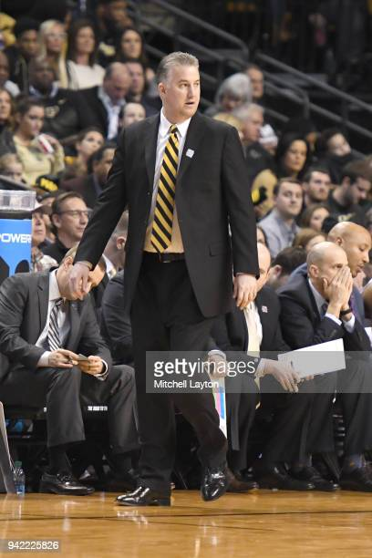 Head coach Matt Painter of the Purdue Boilermakers looks on during the 2018 NCAA Men's Basketball Tournament East Regional against the Texas Tech Red...