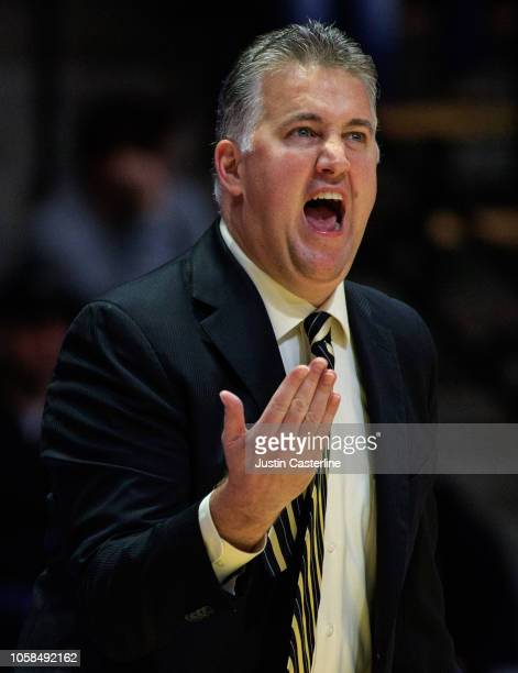 Head Coach Matt Painter of the Purdue Boilermakers reacts after a play in the game against the Fairfield Stags at Mackey Arena on November 6 2018 in...