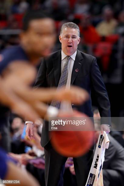 Head coach Matt Painter of the Purdue Boilermakers reacts against the Cal State Fullerton Titans during the second half of the game in the first...