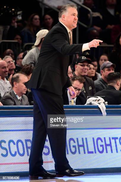 Head coach Matt Painter of the Purdue Boilermakers reacts during action against the Michigan Wolverines during the championship game of the Big Ten...