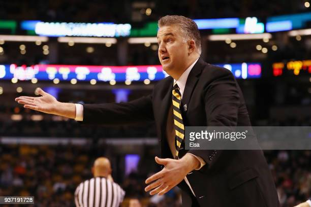 Head coach Matt Painter of the Purdue Boilermakers reacts during the second half against the Texas Tech Red Raiders in the 2018 NCAA Men's Basketball...