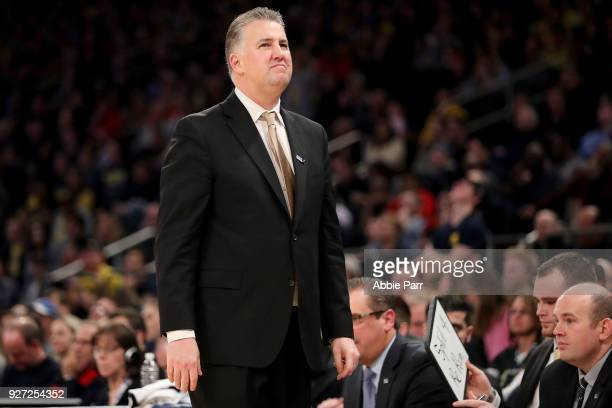 Head coach Matt Painter of the Purdue Boilermakers reacts in the second half against the Michigan Wolverines during the championship game of the Big...