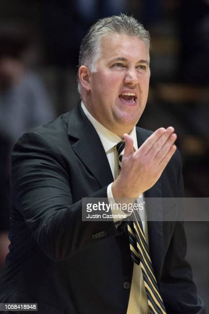 Head Coach Matt Painter of the Purdue Boilermakers reacts to play during the game against the Fairfield Stags at Mackey Arena on November 6 2018 in...