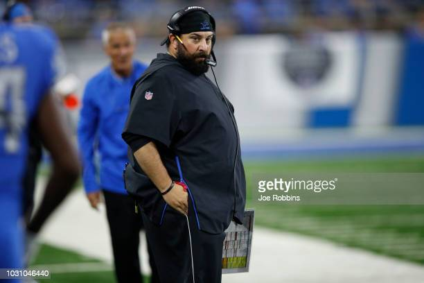 Head coach Matt Patricia of the Detroit Lions looks on in the third quarter against the New York Jets at Ford Field on September 10 2018 in Detroit...