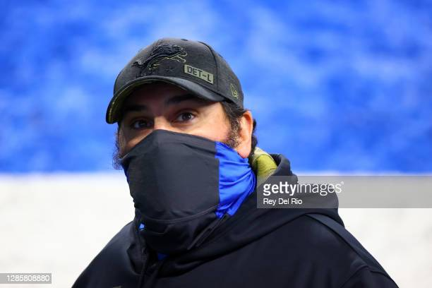Head coach Matt Patricia of the Detroit Lions looks on prior to their game against the Washington Football Team at Ford Field on November 15, 2020 in...