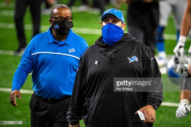 Head coach Matt Patricia of the Detroit Lions looks on while walking off the field after the Detroit Lions lost to the New Orleans Saints at Ford...