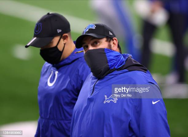 Head coach Matt Patricia of the Detroit Lions reacts after losing to the Indianapolis Colts 41-21 at Ford Field on November 01, 2020 in Detroit,...