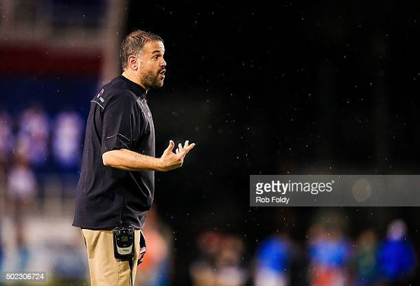 Head coach Matt Rhule of the Temple Owls during the second half of the game against the Toledo Rockets at FAU Stadium on December 22 2015 in Boca...