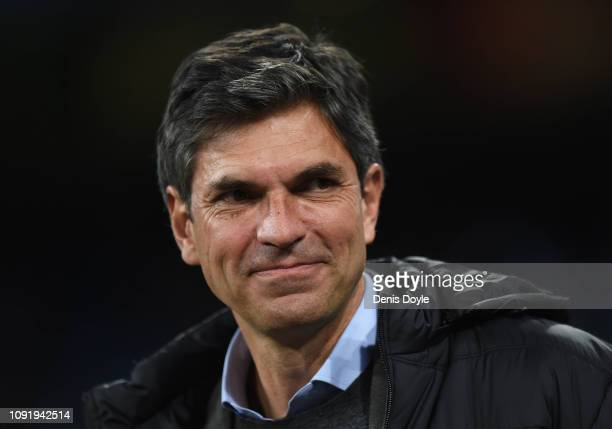 Head coach Mauricio Pellegrino of CD Leganes looks on before the Copa del Rey Round of 16 match between Real Madrid CF and CD Leganes at estadio...