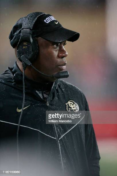 Head coach Mel Tucker of the Colorado Buffaloes looks on in the second half against the Washington State Cougars at Martin Stadium on October 19 2019...