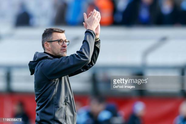 Head coach Michael Koellner of 1860 Muenchen gestures during the 3. Liga match between TSV 1860 Muenchen and SV Waldhof Mannheim at Stadion an der...
