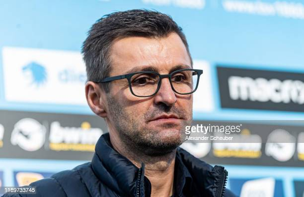 Head coach Michael Koellner of 1860 Muenchen is seen during the 3. Liga match between TSV 1860 Muenchen and Bayern Muenchen II at Stadion an der...