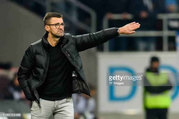 Head coach Michael Koellner of 1860 Muenchen looks on during the 3. Liga match between FC Ingolstadt and TSV 1860 Muenchen at Audi Sportpark on...