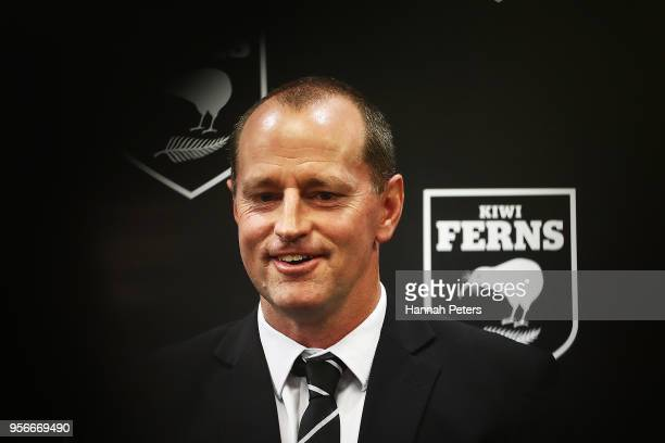 Head coach Michael Maguire of the New Zealand Kiwis speaks to the media during the New Zealand Kiwis head coach announcement at New Zealand Rugby...