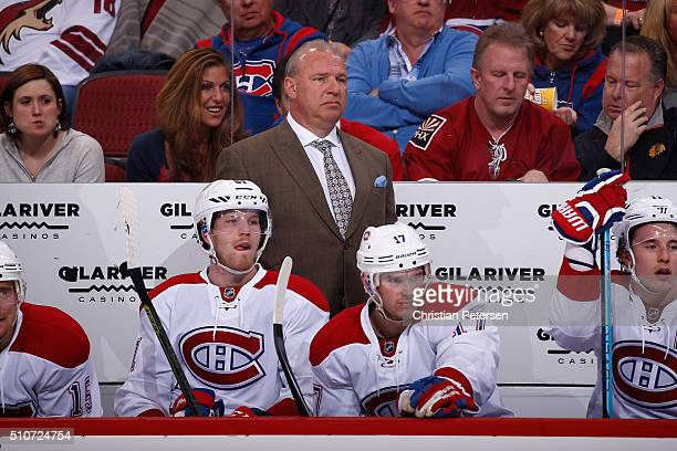 Head coach Michel Therrien of the Montreal Canadiens on the bench during the first period of the NHL game against the Arizona Coyotes at Gila River...