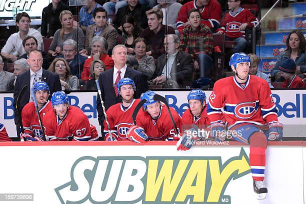 Head coach Michel Therrien of the Montreal Canadiens watches play during the NHL game against the Toronto Maple Leafs at the Bell Centre on January...