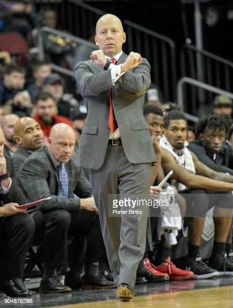 Head coach Mick Cronin of the Cincinnati Bearcats during the game against the Florida Gators in the Never Forget Tribute Classic at the Prudential...