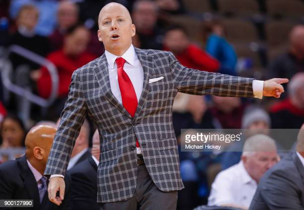 Head coach Mick Cronin of the Cincinnati Bearcats gestures from the sideline during a game against the Memphis Tigers at BBT Arena on December 31...