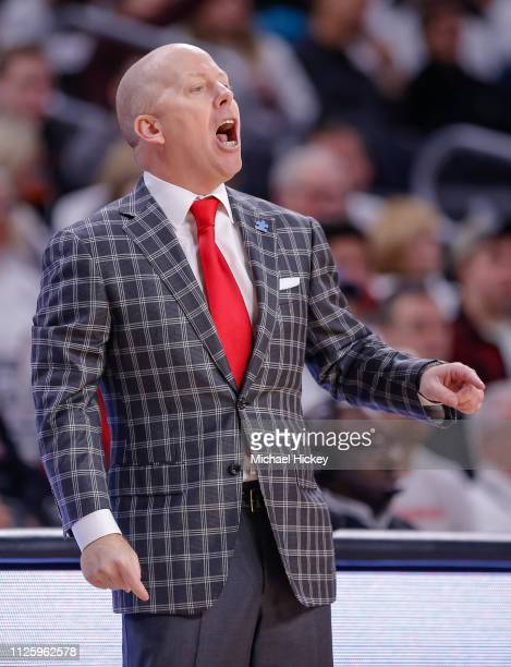 Head coach Mick Cronin of the Cincinnati Bearcats is seen during the game against the Wichita State Shockers at Fifth Third Arena on February 17 2019...