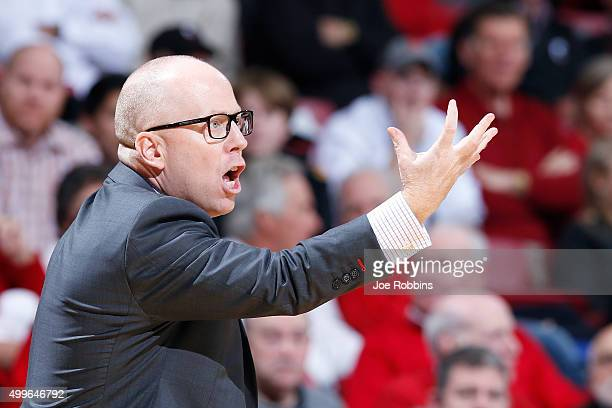 Head coach Mick Cronin of the Cincinnati Bearcats looks on against the Butler Bulldogs in the first half of the game at Fifth Third Arena on December...