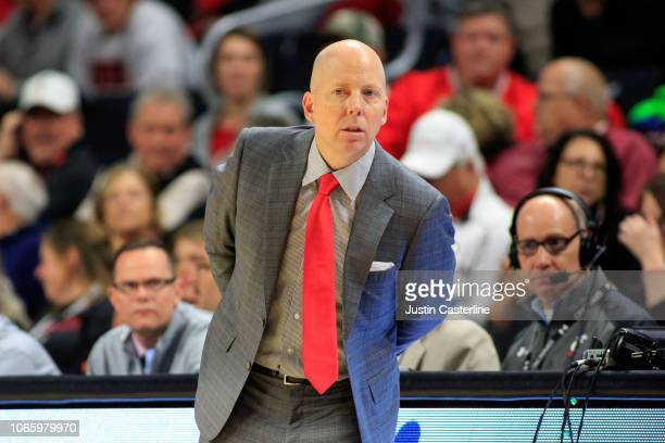 Head coach Mick Cronin of the Cincinnati Bearcats watches his team in the game against the ArkansasPine Bluff Golden Lions at Fifth Third Arena on...