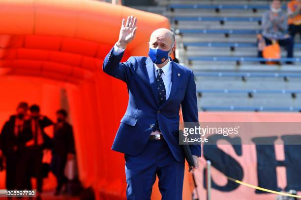 Head coach Miguel Angel LOTINA of Shimizu S-Pulse is seen on arrival at the stadium prior to the J.League Meiji Yasuda J1 match between Shimizu...