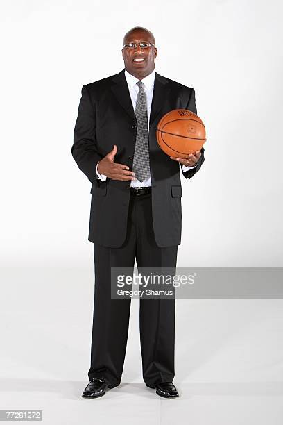 Head coach Mike Brown of the Cleveland Cavaliers poses for a portrait during NBA Media Day at Cleveland Clinic Courts on October 1 2007 in...