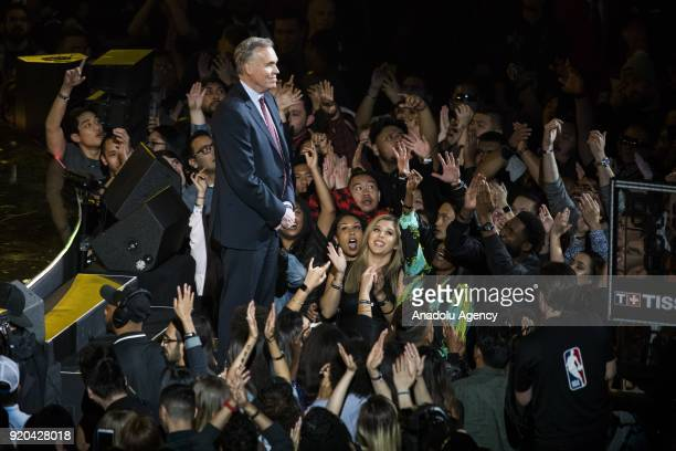 Head coach Mike D'Antoni of Team Stephen is introduced before the start of the 2018 NBA AllStar Game at the Staples Center in Los Angeles California...