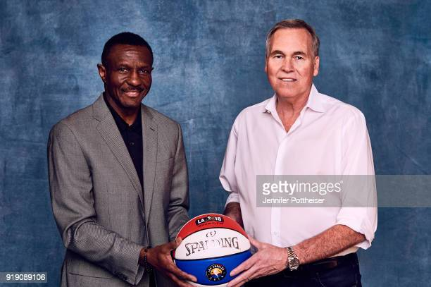 Head Coach Mike D'Antoni of the Houston Rockets and Dwayne Casey of the Toronto Raptors poses for portraits during the NBAE Circuit as part of 2018...