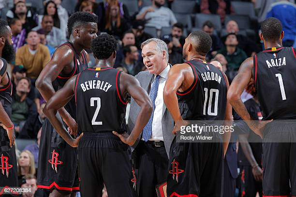 Head coach Mike D'Antoni of the Houston Rockets coaches against the Sacramento Kings on November 25 2016 at Golden 1 Center in Sacramento California...