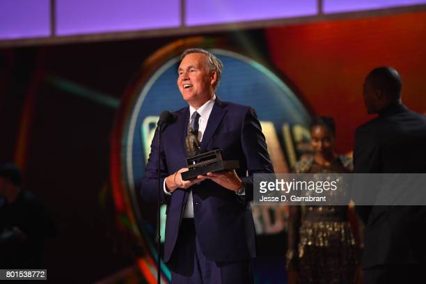 Head Coach Mike D'Antoni receives the Coach of the Year award during the 2017 NBA Awards Show on June 26 2017 at Basketball City in New York City...