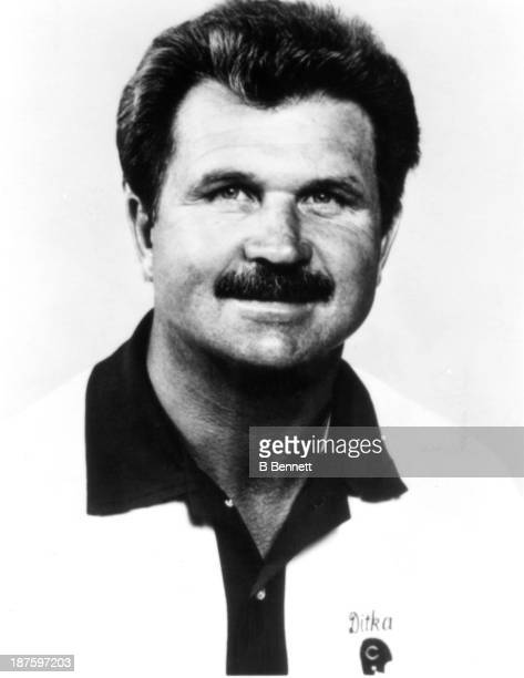 Head coach Mike Ditka of the Chicago Bears poses for a portrait circa 1986 in Chicago, Illinois.