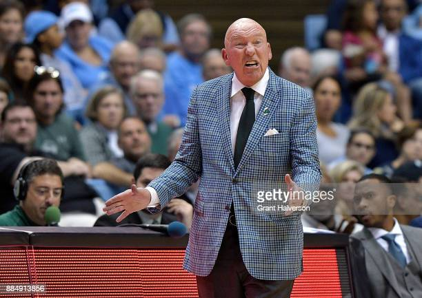 Head coach Mike Dunleavy Sr of the Tulane Green Wave directs his team against the North Carolina Tar Heels during their game at the Dean Smith Center...