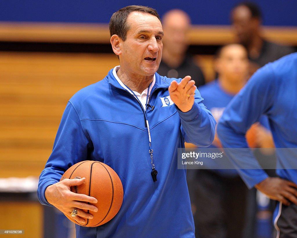 Duke Basketball Open Practice : News Photo