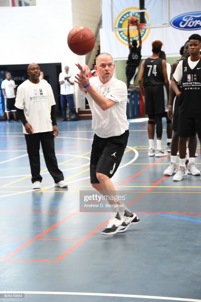Head Coach Mike Malone of the Denver Nuggets runs drills during the Basketball Without Borders Africa at the American International School of Johannesburg on August 2, 2017 in Gauteng province of Johannesburg, South Africa.