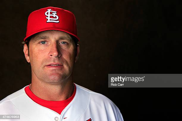Head coach Mike Matheny of the St Louis Cardinals poses for a portrait during photo day at Roger Dean Stadium on February 24 2014 in Jupiter Florida
