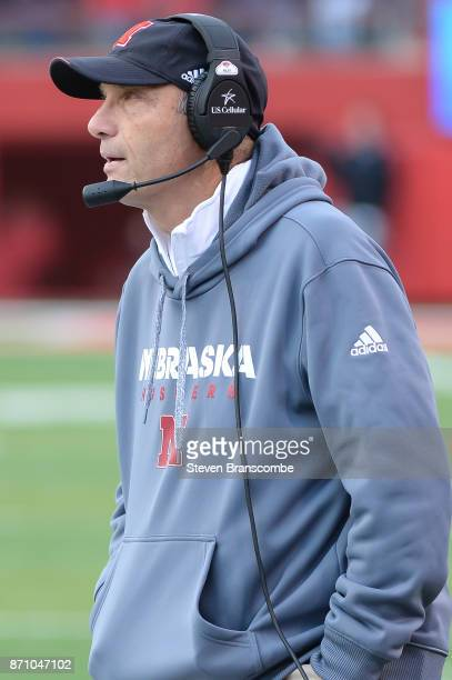 Head coach Mike Riley of the Nebraska Cornhuskers watches action against the Northwestern Wildcats at Memorial Stadium on November 4 2017 in Lincoln...