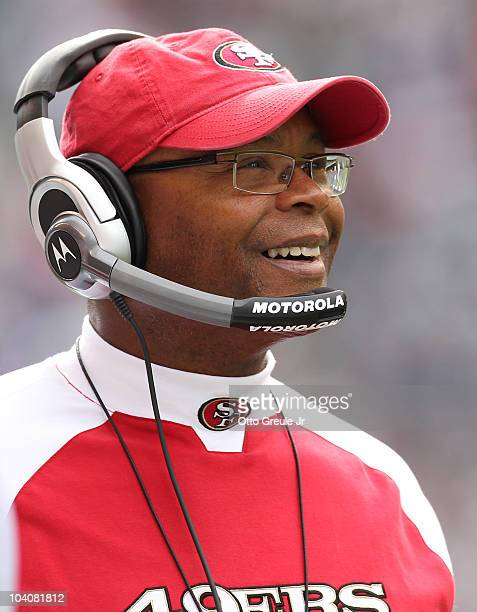 Head coach Mike Singletary of the San Francisco 49ers looks on during the NFL season opener against the Seattle Seahawks at Qwest Field on September...