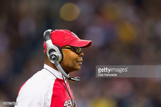 Head coach Mike Singletary of the San Francisco 49ers looks on against the St Louis Rams at the Edward Jones Dome on December 26 2010 in St Louis...