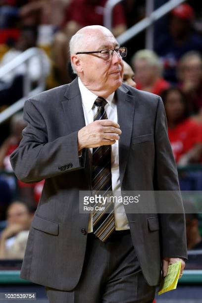 Head coach Mike Thibault of the Washington Mystics looks on against the Seattle Storm in the second half during game three of the WNBA Finals at...